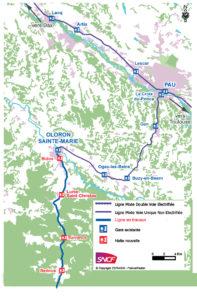 Les trains desserviront 4 haltes : Bidos  Lurbe St Christau  Sarrance  Bedous.